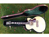 Epiphone EJ200-ce Acoustic Guitar c/w Epiphone hard case