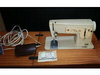 Singer Sewing Machine 447 built in light with instructions and sewing table