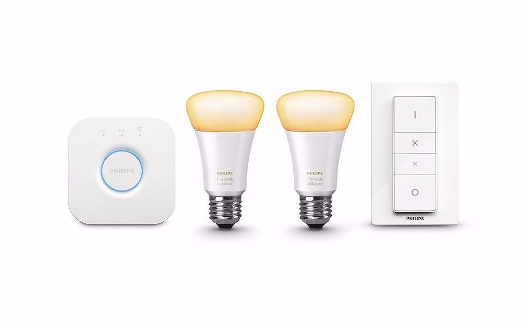Philips Hue White Ambiance Personal Wireless Lighting LED E27 Starter Kit