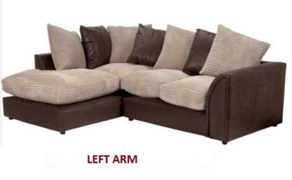 Brand New Still Wrapped The Byron corner Sofa Brown/Beige. Free Delivery