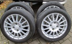 """15"""" Ford ST Alloy Wheels With Tyres Set Of Four"""