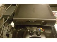 Xbox 360 250gb Console with hd dvd player 25 games 2 controllers and kinect sensor