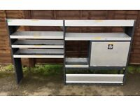 Van Racking / Shelving - BOTT - 7 Shelves / 1 Cupboard - Heavy Duty - Includes Original Fixings