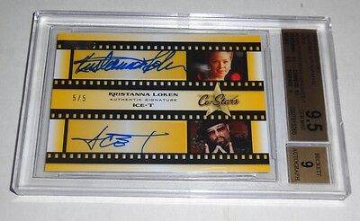 ICE-T KRISTANNA LOKEN Authentic Dual Signature Autograph Gold Co-Stars BGS 9.5