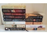 13 PHILIPPA GREGORY BOOKS. 8 HARDBACK & 5 PAPERBACK. ALL IN VERY GOOD CONDITION.