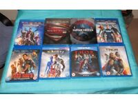 9 Marvel/DC Films blu ray / steelbooks