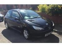 PEUGEOT 206 1.4 DIESEL BLACK 3 DOOR MANUAL