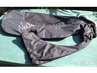 FOR SALE IS A USED HURTTA SUMMIT DOG COAT / PARKA.