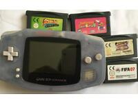 Gameboy Advance with 4 games