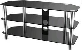 50inch black glass tv stand