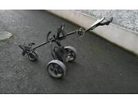 Electric golf trolley or cart with nearly new battery