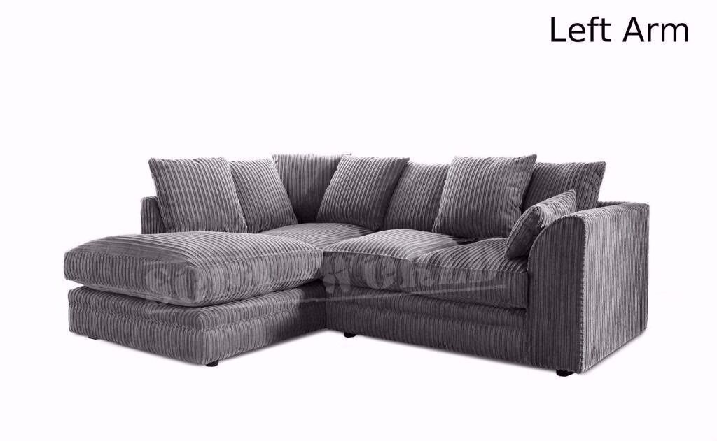 BLACK MINK AND GREY CORNER OR 3 AND 2 SEATER SOFA SETCHEAPEST