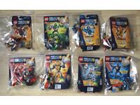 LEGO Nexo Knights Ultimate & Battle Suit Figures.