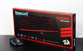 Karura Redragon Gaming Keyboard Phoenix Revival 7 LED Colour Gaming Mouse Bundle