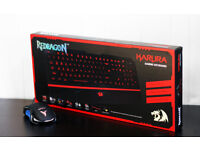Karura Redragon Gaming Keyboard Phoenix Revival 7 LED Colour Gaming Mouse Bundle