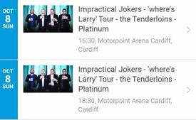 2 tickets to see The tenderloinsin cardiff