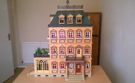 Playmobil Victorian Mansion 5300 + expansion 7411 + furniture + dolls vintage collectible