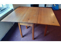 Pitch Pine Folding Dining Table