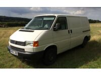 White VW Transporter 2.5 TDI SWB Panel Van. Ideal For Camper Van Conversion