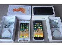 IPhone 6s - unlocked - 16gb - boxed - rose gold and space grey / black original Apple chargers
