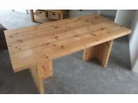 Large pine, IKEA desk