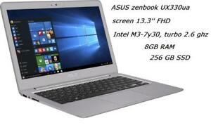 ASUS ZENBOOK UX330CA 13.3-inch FHD, M3-7y30 , turbo 2.6GHz ,8GB, 256GB SSD + MC OFFICE PRO, Like new in box