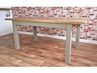 Slab-Style Rustic Farmhouse Oak Dining Table - Free Delivery