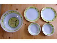 Melamine Tableware - Serving bowl, dishes & plates -Retro Camping, caravan, al fresco