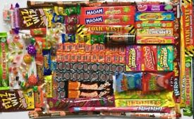 Sweets- retro-sour-gum-tangy-American & British 1.35kg mega mix sweet selection