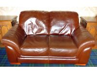 2 seat leather sofa very good condition
