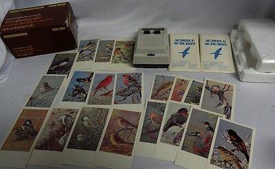 Microsonics Microphonograph Ms 301 Audible Audubon Bird Songs Cards Lot Player