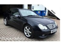 BARGAIN Merc C Class cclass 220 diesel Sport auto coupe, Leather, Dec mot , Trade in to Clear