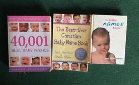 Baby names books