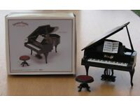 Vintage Sylvanian Families Boxed Grand Piano and Stool with Sheet Music 1988