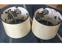 2 black & cream Laura Ashley lampshades