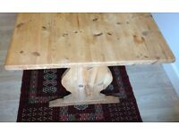 PINE REFECTORY dining table, unvarnished natural finish.