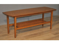 Attractive Large Vintage Retro Teak Coffee Occasional Table