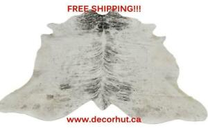 Cowhide Rug Brazilian, Real, Natural, cow skin rug cow hide rugs free Delivery/Shipping cowhides upholstery leather