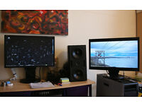 """2 x 22"""" Professional Business Monitors / NEC multisync EA221WMe"""