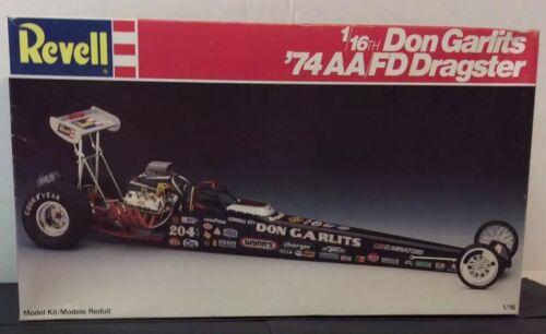 Revell Kit 7472 1/16th Don Garlits 74 AAFD Dragster Open Unbuilt - $110.49