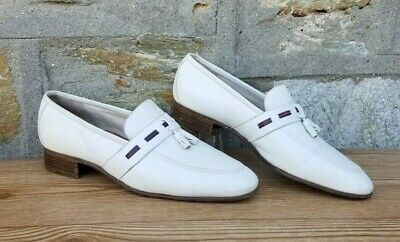 Vintage Mens Cream Gucci Tassel Loafers Shoes Made in Italy EU Size 43 US 9.5-10