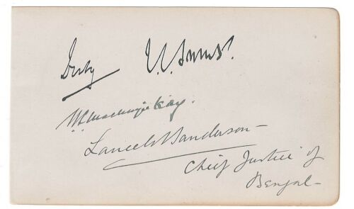 Jan Smuts Signed Album Page + Others / Autographed South Africa