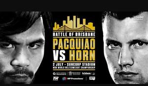Pacquai V Horn Fight Perth Perth City Area Preview
