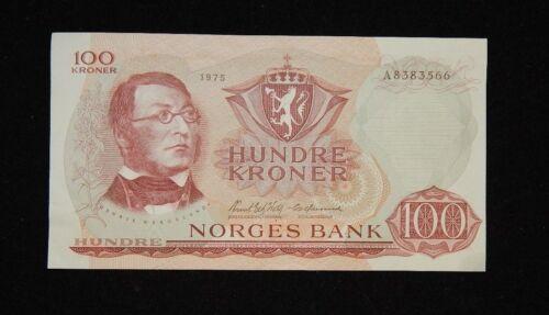 Norway 100 Kroner 1975 AU/UNC Condition Banknote
