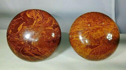 Vintage Tiger Eye Door Knobs - Set of 2