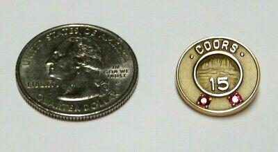 Coors Brewing 15 Year Service Award Metal Pin 10K