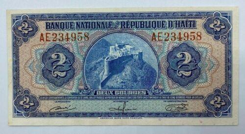 Nationale Bank Haiti Deux Gourdes Note BK32