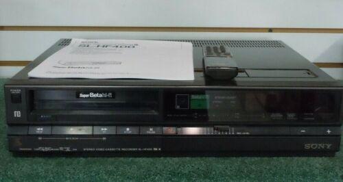 Sony SL-HF400 Betamax Super Beta HI-FI VCR WORKING, Remote included