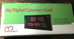 DBTech Clock Digital LED Calendar with Day & Date for Shelf or Wall Electric