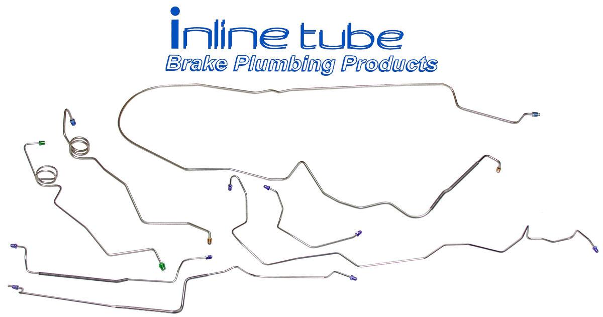 1987 Monte Carlo Complete Prebent Brake Line Kit Stainless Steel